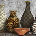 Animal Print Vase Still Life-A Poster by Jean Plout