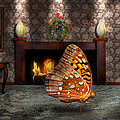 Animal - The Butterfly Print by Mike Savad