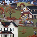 Annual Barn Dance and Hayride Print by Catherine Holman