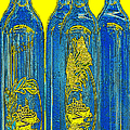 Antibes Blue Bottles Poster by Ben and Raisa Gertsberg