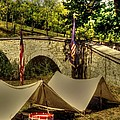 Antietam - 8th Connecticut Volunteer Infantry-A1 Encampment Near the Foot of Burnsides Bridge Poster by Michael Mazaika
