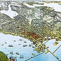 Antique 1891 Seattle Map Print by Dan Sproul
