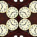 Antique Clock Abstract . horizontal Poster by Renee Trenholm