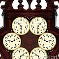 Antique Clock Abstract . standard Poster by Renee Trenholm