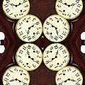 Antique Clock Abstract . vertical Poster by Renee Trenholm