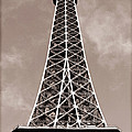 Antique Eiffel Tower Poster by John Rizzuto