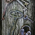 Antique Keys and Padlock Poster by Paul Ward