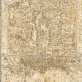 Antique Map of Beijing China - 1938 Print by Blue Monocle