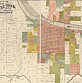 Antique Map of Little Rock Arkansas by Gibb and Duff Rickon - 1888 Print by Blue Monocle