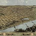Antique Map of Omaha Nebraska by A. Ruger - 1868 Print by Blue Monocle