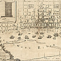 Antique Map of Philadelphia by Nicholas Scull - 1762 Print by Blue Monocle