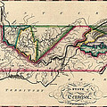 Antique Map of Tennessee by Samuel Lewis - circa 1810 Print by Blue Monocle