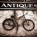 Antiques and The Old Bike Poster by Bob Orsillo