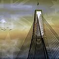 Anzac Bridge Poster by Holly Kempe