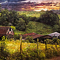 Appalachian Mountain Farm Poster by Debra and Dave Vanderlaan