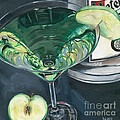 Apple Martini Print by Debbie DeWitt