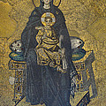 Apse mosaic Hagia Sophia Virgin and Child Poster by Ayhan Altun