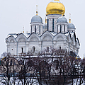 Archangel cathedral of Moscow Kremlin - Featured 3 Print by Alexander Senin