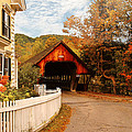 Architecture - Woodstock VT - Entering Woodstock Print by Mike Savad