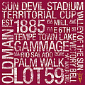Arizona State College Colors Subway Art Print by Replay Photos