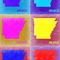 Arkansas Pop Art Map 2 Print by Naxart Studio