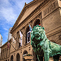 Art Institute of Chicago Lion Statue Print by Paul Velgos
