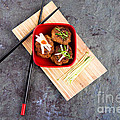 Asian meatballs 1 Poster by Jane Rix