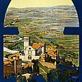 Assisi Italy Poster by Nomad Art And  Design