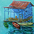 At Boat House Poster by Xueling Zou