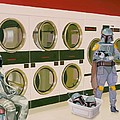 At the Laundromat with Boba Fett Print by Scott Listfield