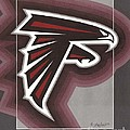Atlanta Falcons Logo Print by Herb Strobino