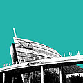 Atlanta Georgia Aquarium - Teal Green Print by DB Artist