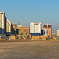 Atlantic City at Sunset Poster by Olivier Le Queinec