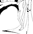 Aubrey Beardsley Woman in the Moon Print by