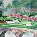 Augusta National 12th Hole Poster by Deborah Ronglien