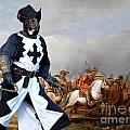 Australian Kelpie Canvas Print - A cavalry engagement during the Thirty Years War Poster by Sandra Sij