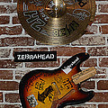 Autographed Guitar and Record Memorabilia of the famous band ZebraHead Poster by Renee Anderson