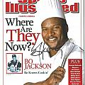 Autographed Sports Illustrated Cover by Bo Jackson Bo Knows Cookin' Poster by Claudette Armstrong