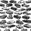 AUTOMOTIVE PEN AND INK POSTER Print by Jack Pumphrey