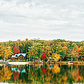 Autumn at the Lake - Pocono Mountains Print by Vivienne Gucwa