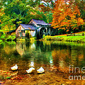 Autumn at the Mill Print by Darren Fisher