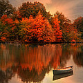 Autumn Canoe Poster by Robin-lee Vieira