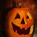 Autumn - Halloween - Jack-o-Lantern  Print by Mike Savad