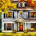 Autumn - House - Cottage  Poster by Mike Savad