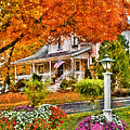 Autumn - House - The Beauty of Autumn Print by Mike Savad