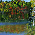 Autumn Lake at Mono Cliffs  Print by Catherine Howard