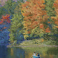 Autumn on the Lake Print by Marna Edwards Flavell