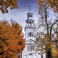 Autumn Scenic from Old First Church of Bennington Vermont Print by Thomas Schoeller