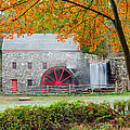 Auutmn at the Grist Mill Print by Michael Blanchette