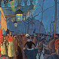 Avenue de Clichy Paris Print by Louis Anquetin